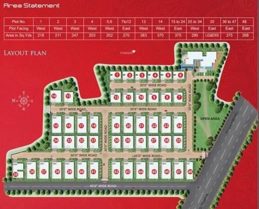 Vajram Aster Homes Layout Plan