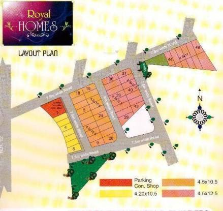 Om Construction And Builder Royal Homes Layout Plan