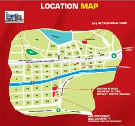 SRS Royal Hills Location Plan