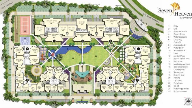 G S Build Samriddhi Seven Heaven Layout Plan