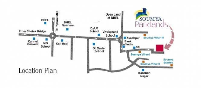 Soumya Parklands Location Plan