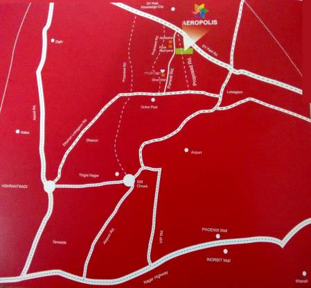 Krishna Aeropolis Location Plan