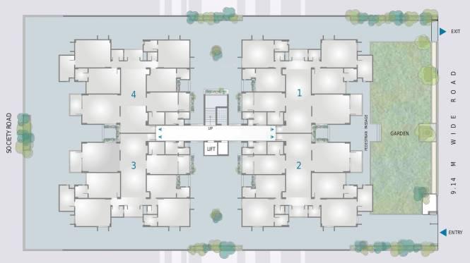 Venus Paramount Residency Cluster Plan