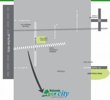 Nalanda Eco City Location Plan