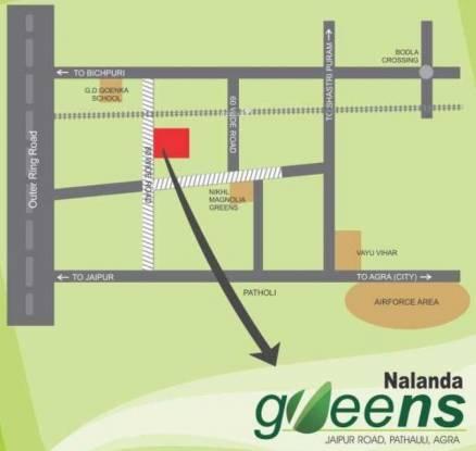 Nalanda Greens Location Plan
