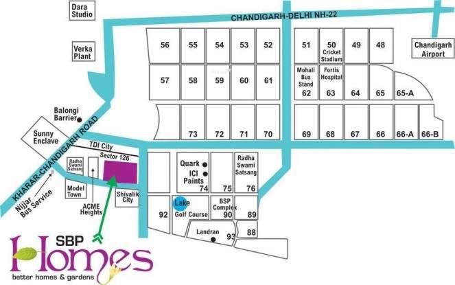 SBP Homes Location Plan