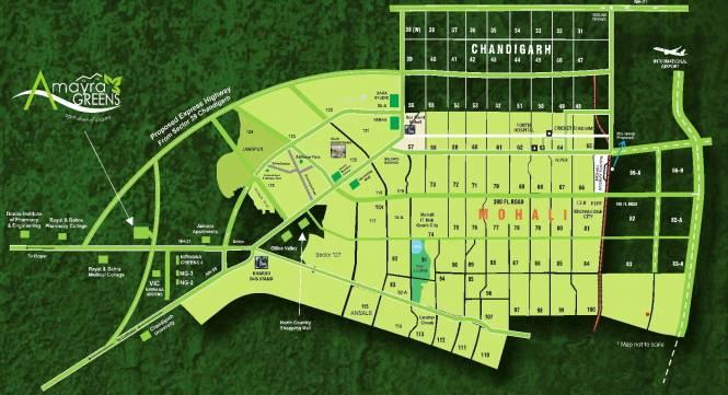 Omni Amayra Greens Location Plan