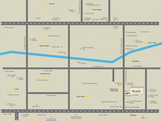 Prithvi Presidio Location Plan