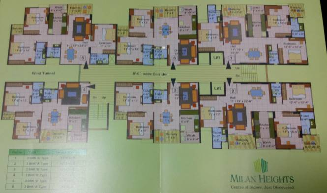 Milan Milan Heights Apartments Cluster Plan