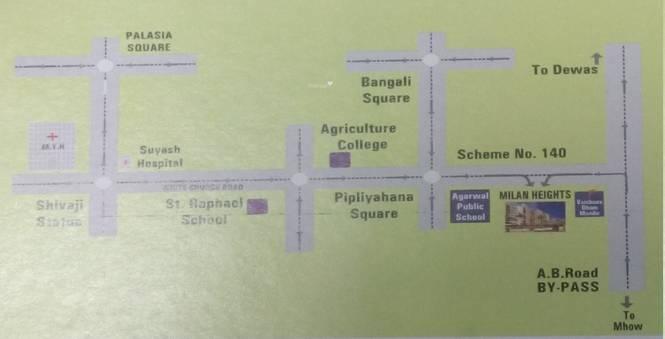 Milan Milan Heights Apartments Location Plan