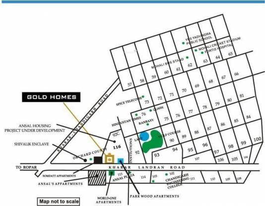 Shubham Gold Homes Location Plan