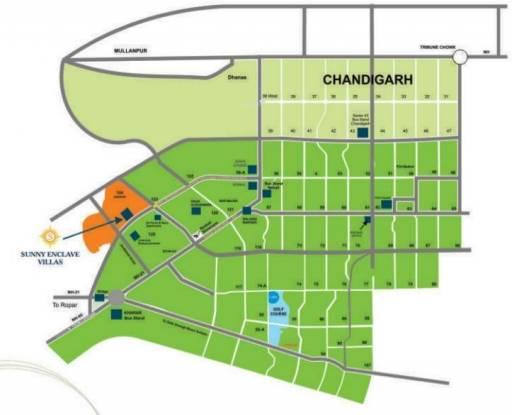 Bajwa Sunny Enclave Location Plan