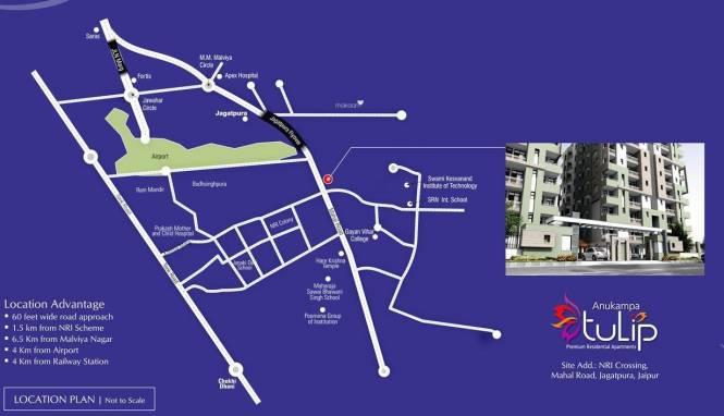 Anukampa Tulip Location Plan
