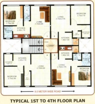 Shree Laxman Residency Cluster Plan