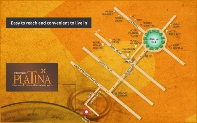 Anukampa Platina Location Plan