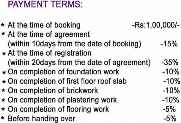 Shree Ramana Flats Payment Plan