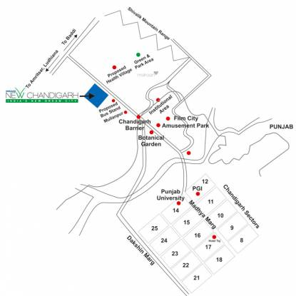 Omaxe Chandigarh Extension Plot Location Plan
