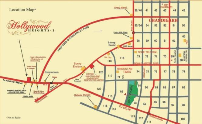 Shanti Hollywood Heights I Location Plan