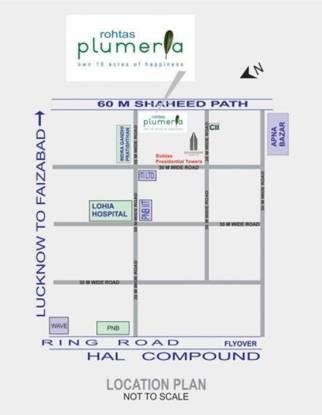 Rohtas Plumeria Location Plan