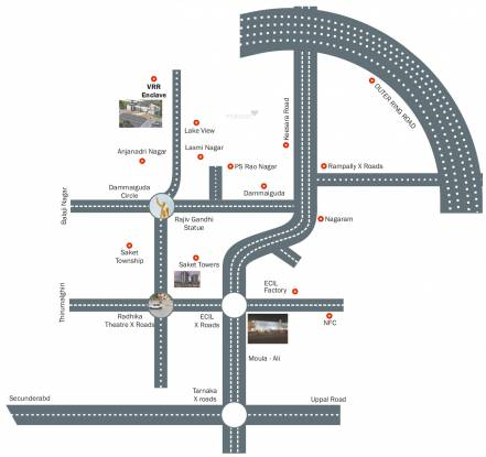 VRR Duplex Houses Location Plan