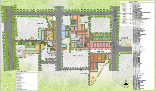 Central Park Mikasa Plots Master Plan