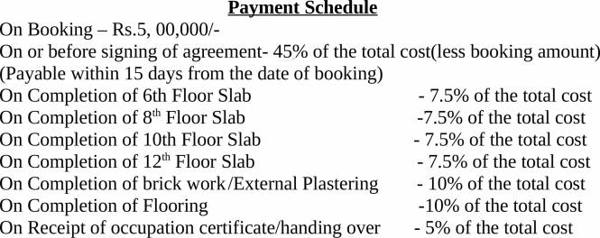 NCC Senate Payment Plan