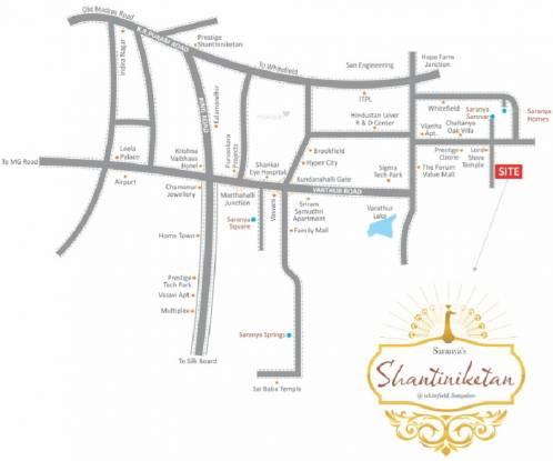 Saranya Shantiniketan Location Plan