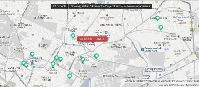 Motwani Fairmont Towers Location Plan