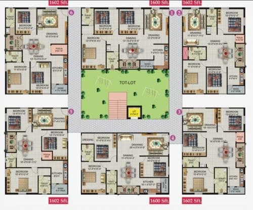 Lakshmi Royal Castle Cluster Plan