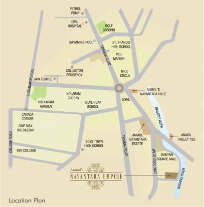 Anmol Empire Location Plan