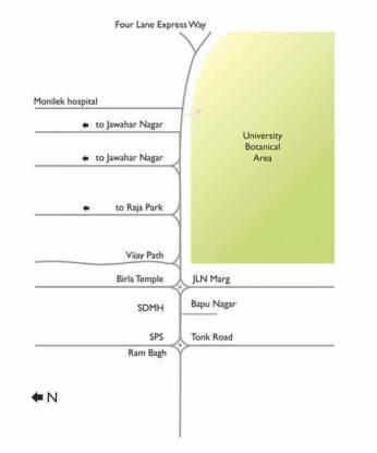 Unique Aravali Location Plan