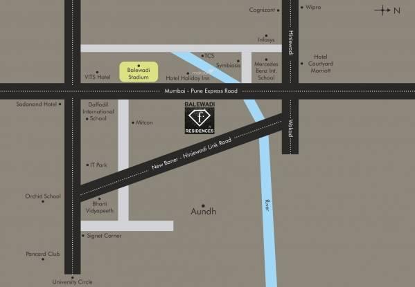 Nahar F Residences Location Plan