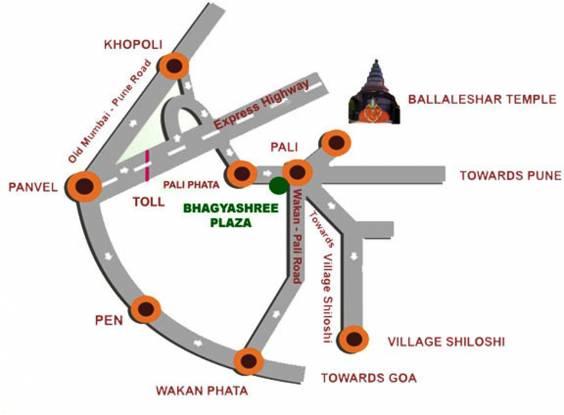 Mountain Bhagyashree Plaza Location Plan