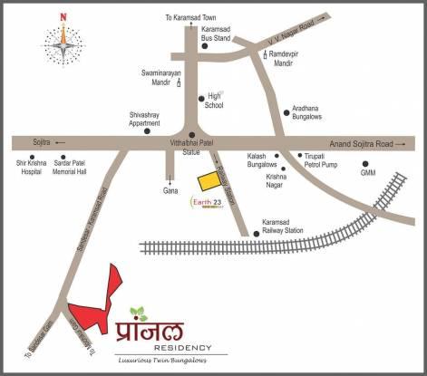 Raghukul Pranjal Residency Location Plan