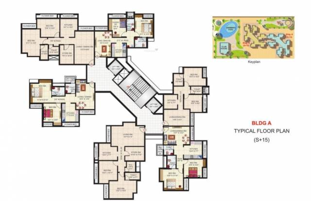 Satya Shree Satya Shankar Residency Cluster Plan