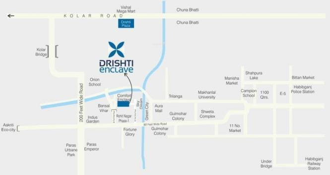 Drishti Enclave Location Plan