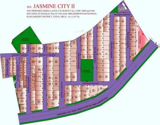 JB Jasmine City Layout Plan