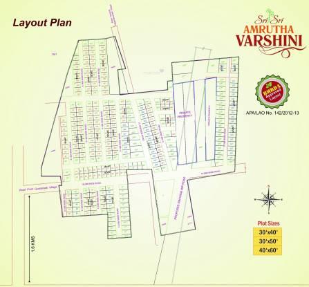 Sri Amrutha Varshini Plots Layout Plan