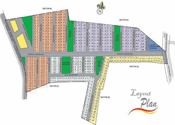 Indus Regency Layout Plan