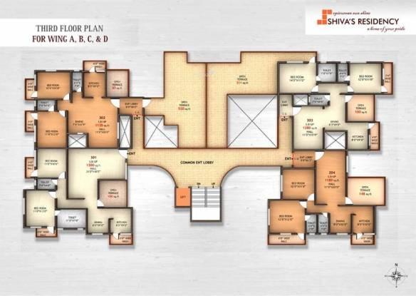 Om Shivam Residency Cluster Plan