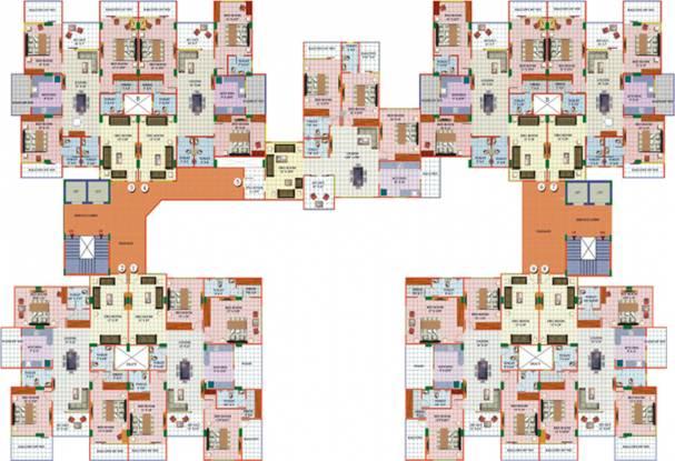 Satguru Gokul Residency Cluster Plan