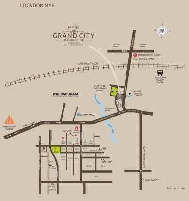 Prateek Grand City Location Plan