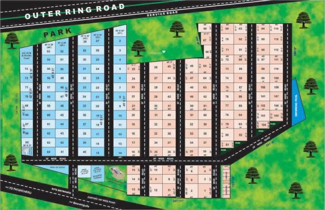 Mytri Sri Mytri Villas Layout Plan