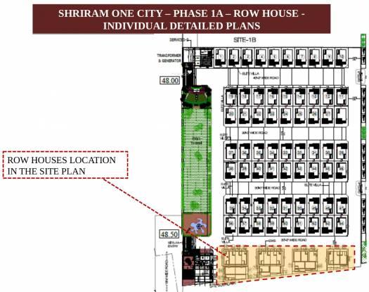 Shriram Santrupthi Independent Villas Layout Plan