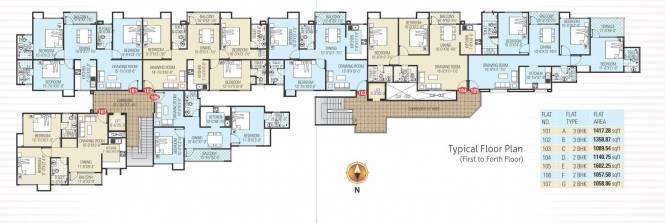 Manglam Kanak Residency Cluster Plan