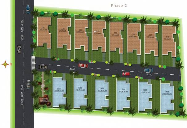 Veerabhadra Fort View Villas Layout Plan