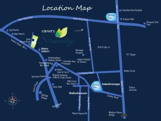Cauvery Serenity Location Plan
