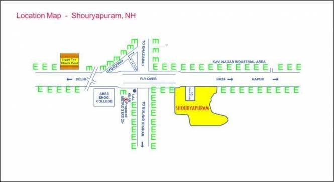 Shourya Shouryapuram Residential Plots Ph 1 Location Plan