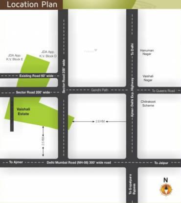Manglam Vaishali Estate Location Plan