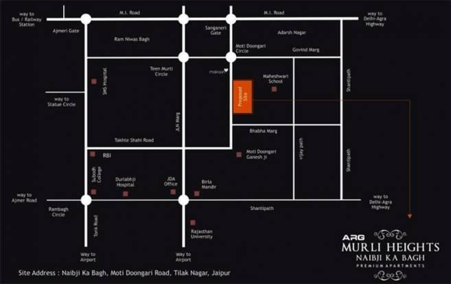 ARG Murli Heights Location Plan